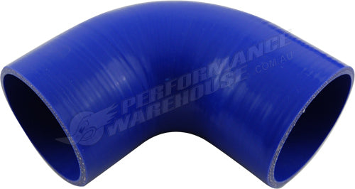 "TAKASHI BLUE SILICONE HOSE 90 DEGREE STANDARD ELBOW 3¼"" (83mm) AIR INTAKE TURBO"
