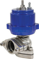 WASTEGATE 38mm PISTON BLUE AL606I TOP 304 STAINLESS STEEL BASE