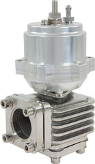 WASTEGATE 46mm PISTON SILVER AL606I TOP 304 STAINLESS STEEL BASE
