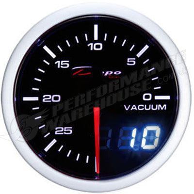 DEPO RACING VACUUM STEPPER MOTOR GAUGE 60MM DUAL VIEW, RACE, DRIFT, PERFORMANCE