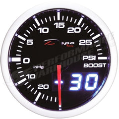 DEPO RACING BOOST PSI STEPPER MOTOR GAUGE 52MM DUAL VIEW, DRIFT, TURBO, RACE