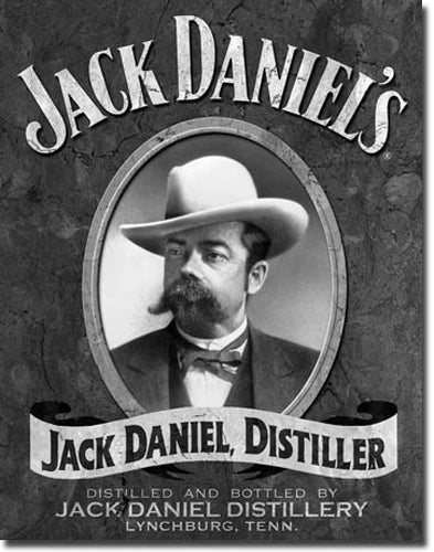 JACK DANIELS -LARGE METAL TIN SIGN 40.6CM X 31.7CM GENUINE AMERICAN MADE