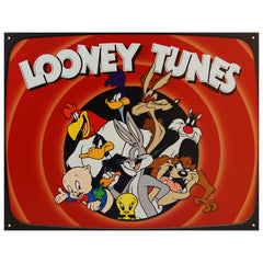 LOONEY TUNES FAMILY - LARGE METAL TIN SIGN 31.7CM X 40.6CM GENUINE AMERICAN MADE