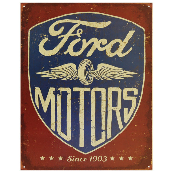 FORD MOTORS - SINCE 1903 - LARGE METAL TIN SIGN 31.7CM X 40.6CM GENUINE AMERICAN MADE