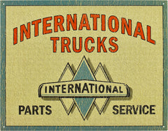 INTERNATIONAL TRUCKS - P & S - LARGE METAL SIGN 31.7CM X 40.6CM