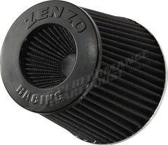 ZENZO RACING 3 INCH 77MM PERFORMANCE POD AIR FILTER BLACK TOP BLACK FILTER