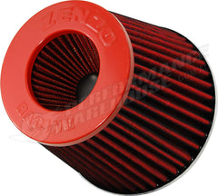 ZENZO RACING 3 INCH 77mm PERFORMANCE POD AIR FILTER RED TOP RED FILTER