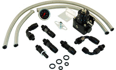 CAL CUSTOM ALUMINIUM EFI FUEL PRESSURE REGULATOR KIT - BLACK