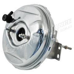 "CHROME 9"" SINGLE DIAPHRAGM POWER BRAKE BOOSTER, OEM STYLE"