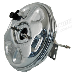 "CHROME 11"" SINGLE DIAPHRAGM POWER BRAKE BOOSTER, DELCO OEM STYLE 1967-74"