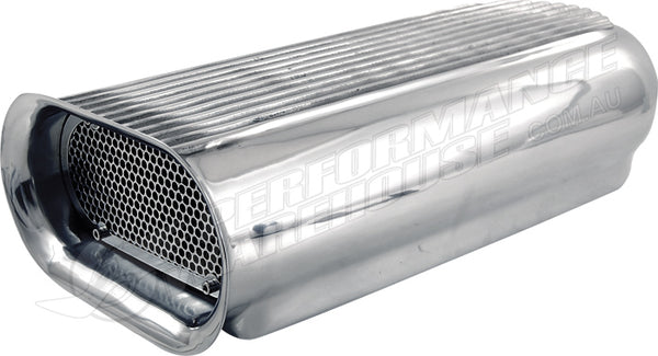 POLISHED ALUMINIUM HILBORN AIR SCOOP, SUITS DUAL 4 BBL