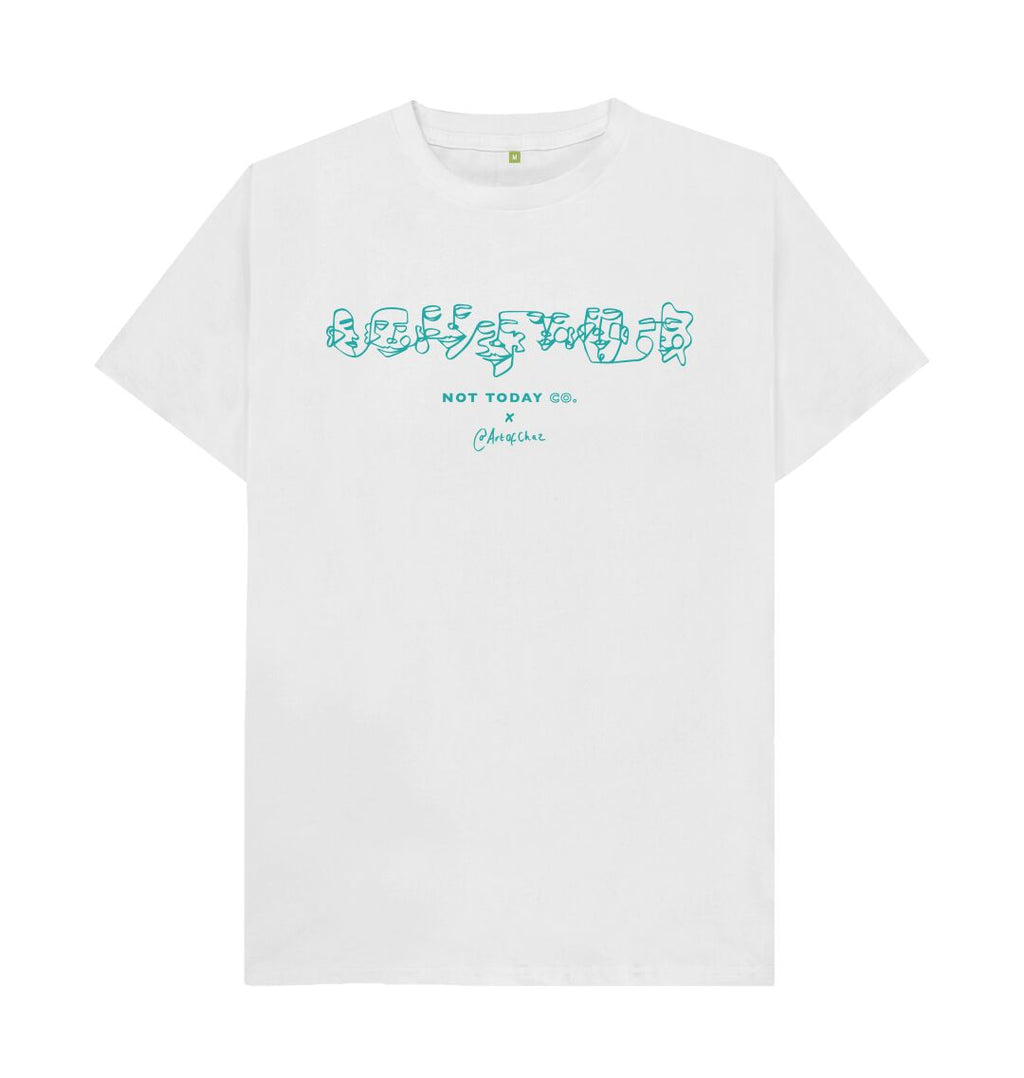 "White ""CO.LLECTIVE\"" - NTC X ARTOFCHAZ - TURQUOISE"