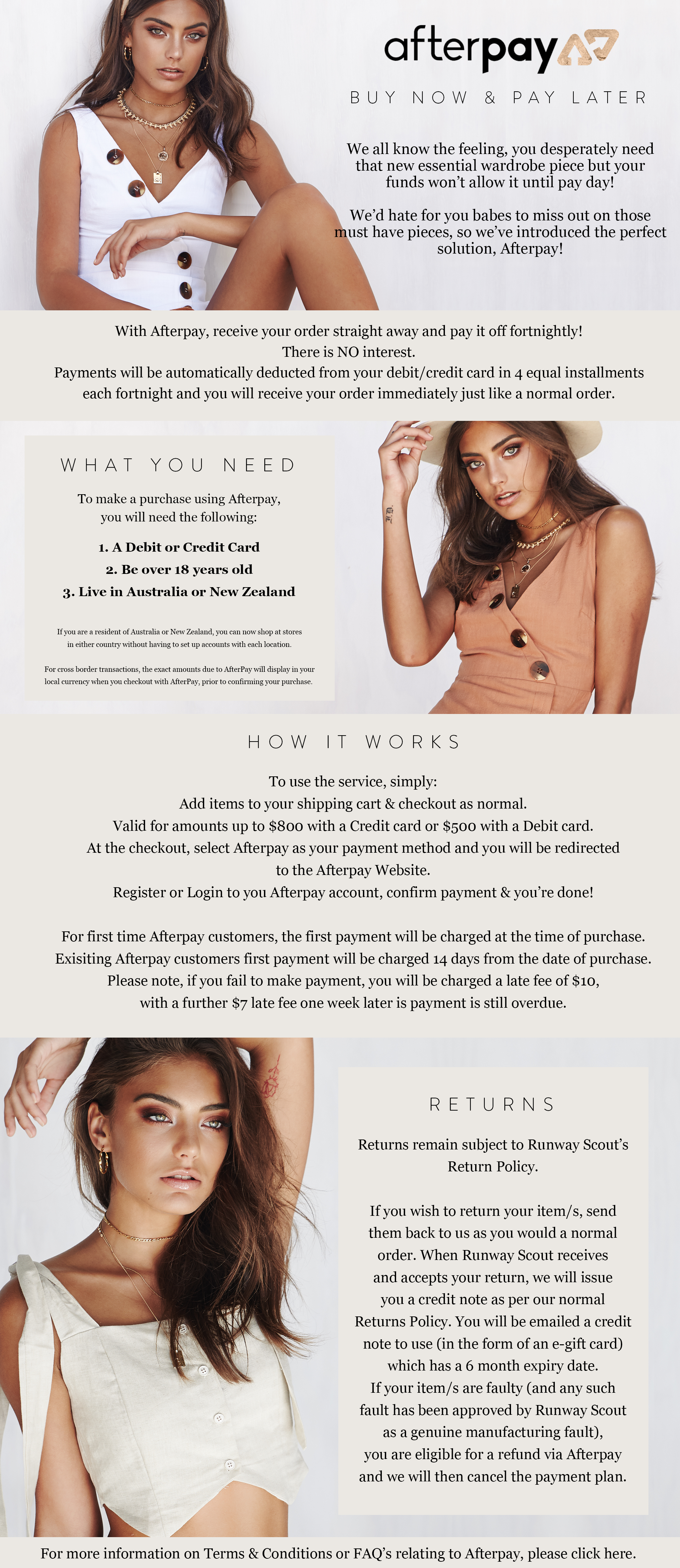 Afterpay - Buy Now, Pay Later, Interest Free! – RunwayScout