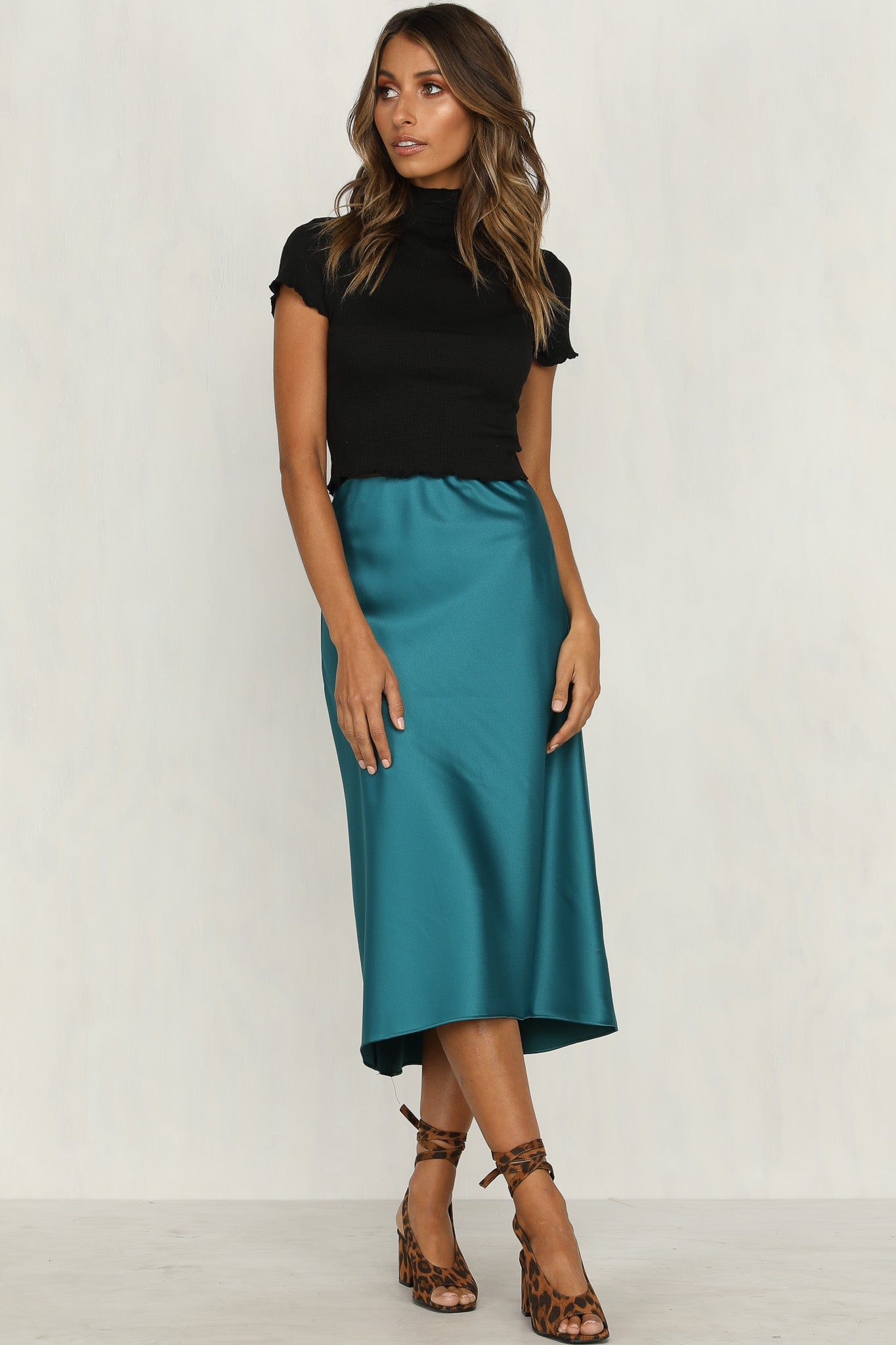 Smooth Operator Midi Skirt (Teal)