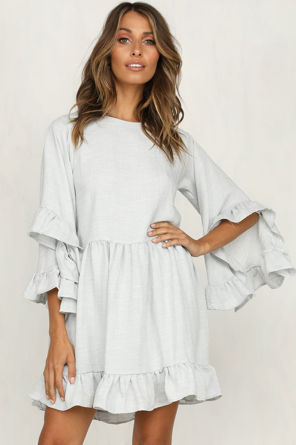 Under The Radar Dress (Light Grey)