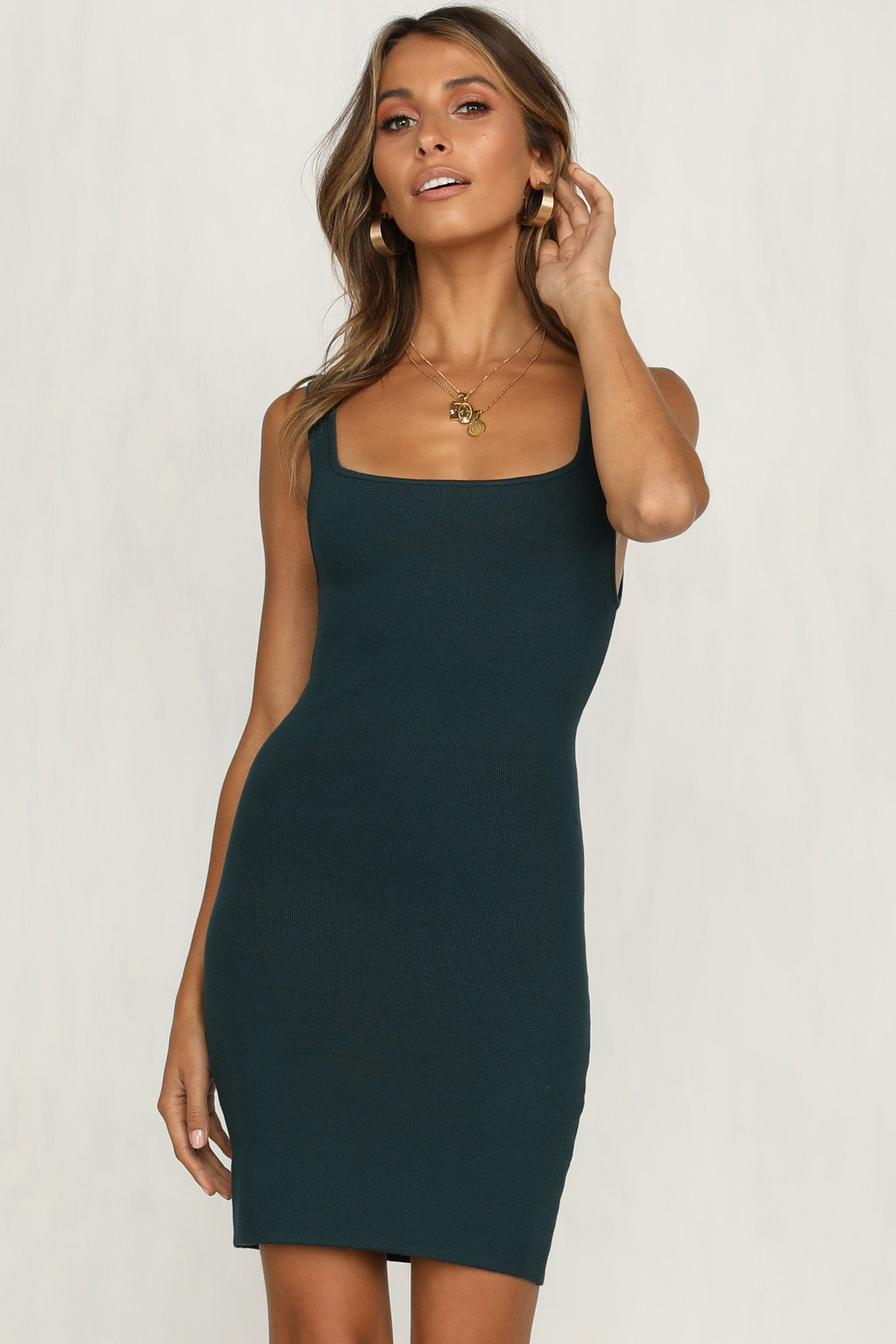 Arizona Knit Dress (Teal)