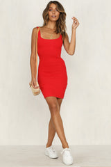 Arizona Knit Dress (Red)