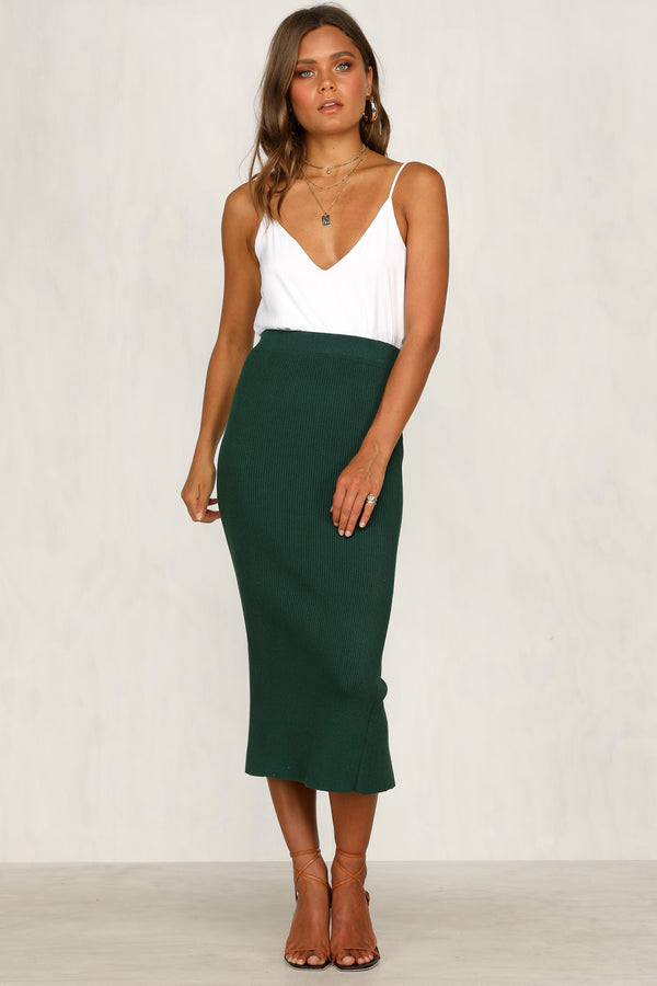 First In Skirt (Forest Green)