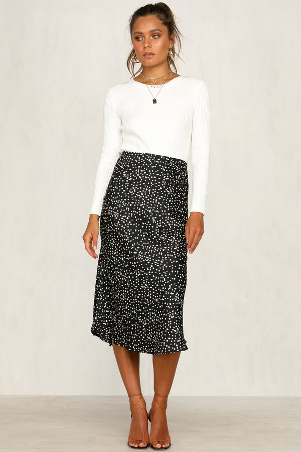 Hits The Spot Skirt (Black)