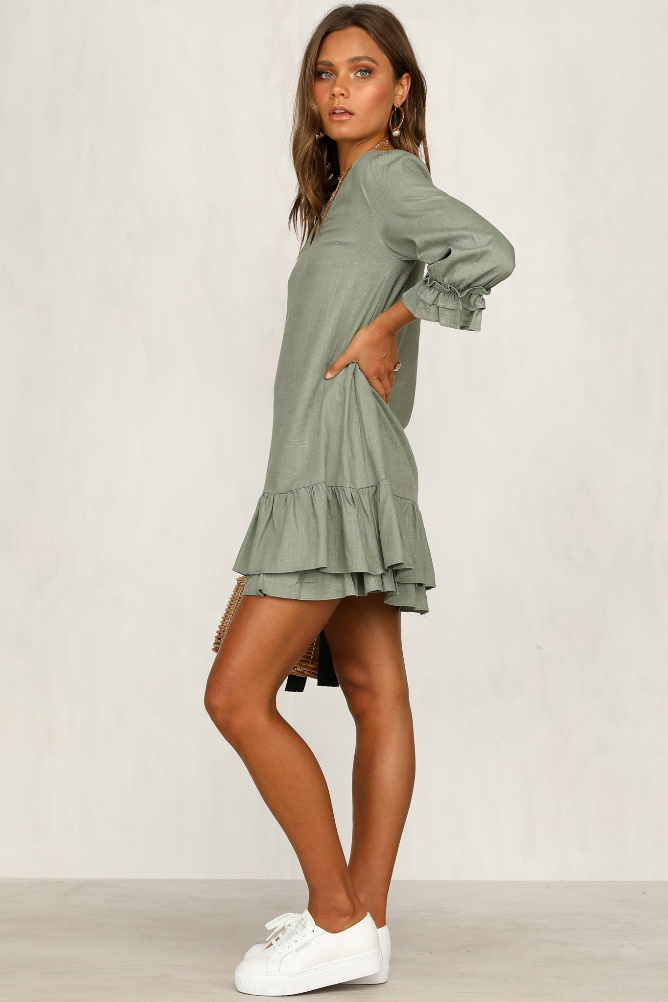 Simply Silence Dress (Khaki)