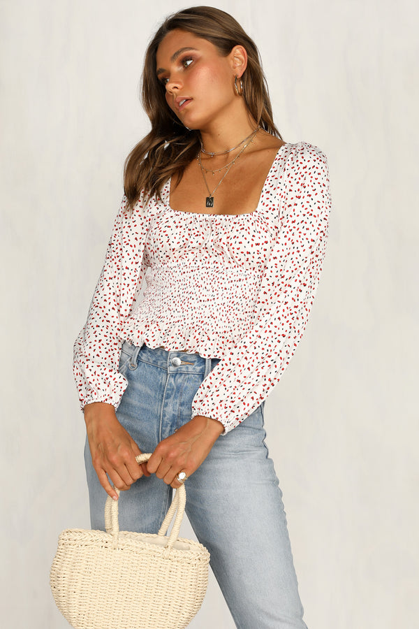 Grenadine Top (White)