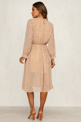 Sophisticate Dress (Beige)