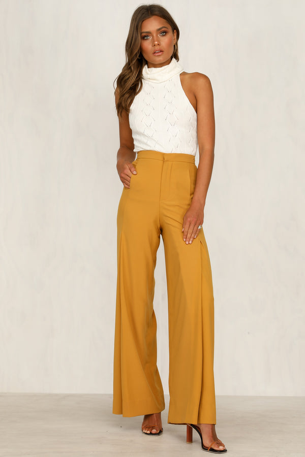 Twiggy Pants (Mustard)