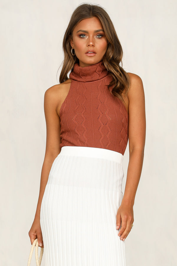 Your Faith Knit Bodysuit (Rust)