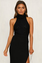 Your Faith Knit Bodysuit (Black)