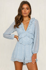 Heavenly Bodies Playsuit (Blue)