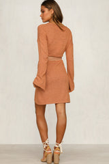 Amber Knit Dress (Rust)