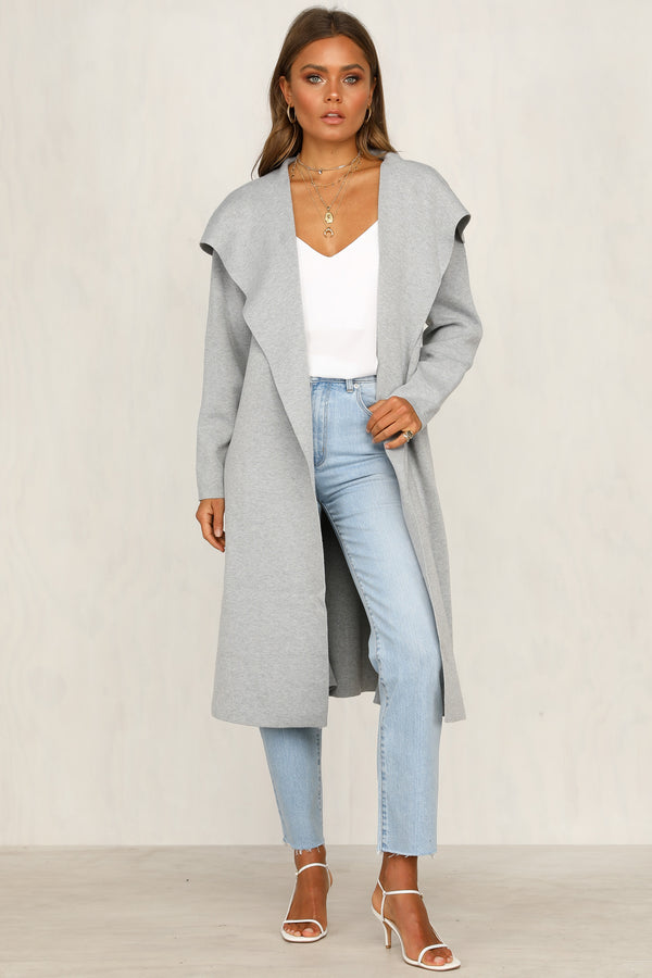 Dusk To Dawn Cardigan(Grey)