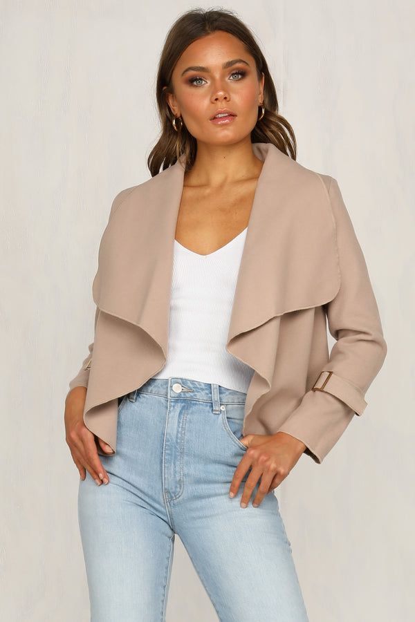 Green Light Coat (Beige)