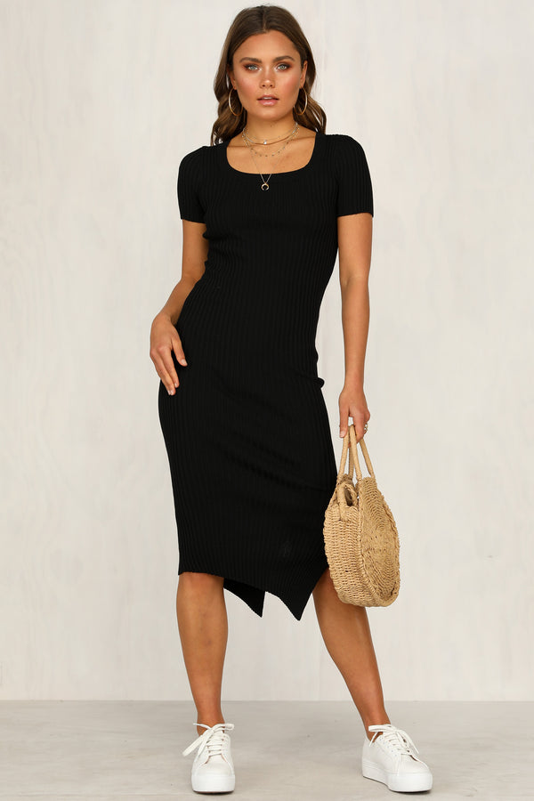 Mixed Signals Dress (Black)