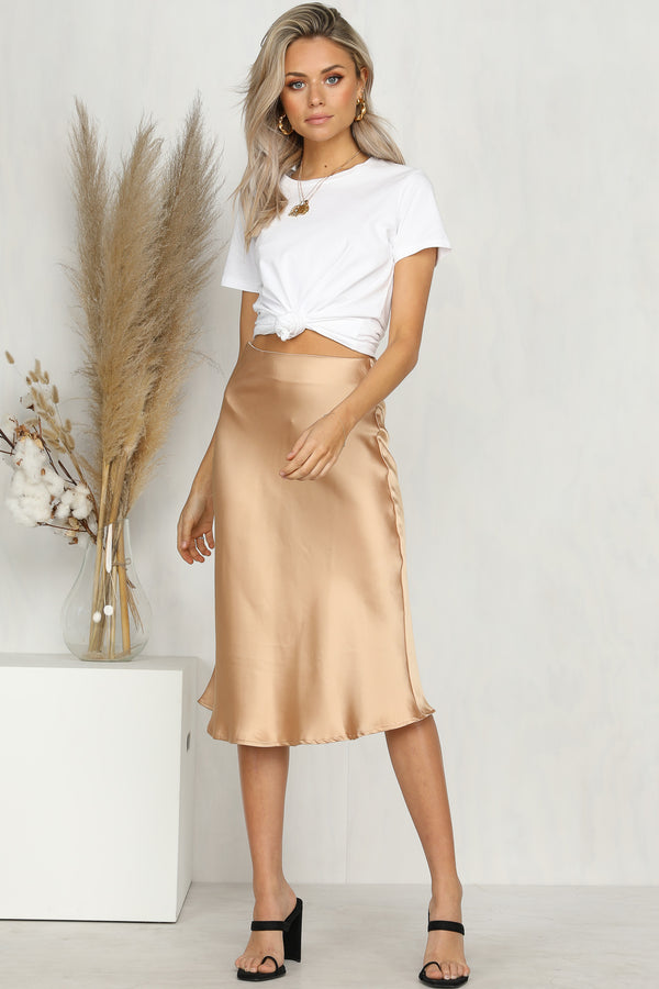 Evaporate Midi Skirt (Gold)