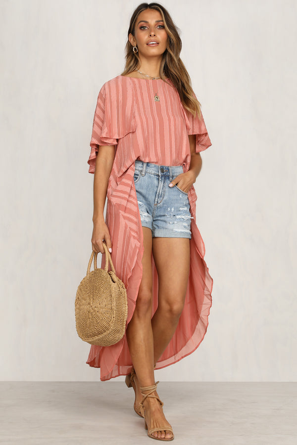 Wild And Free Top (Peach)