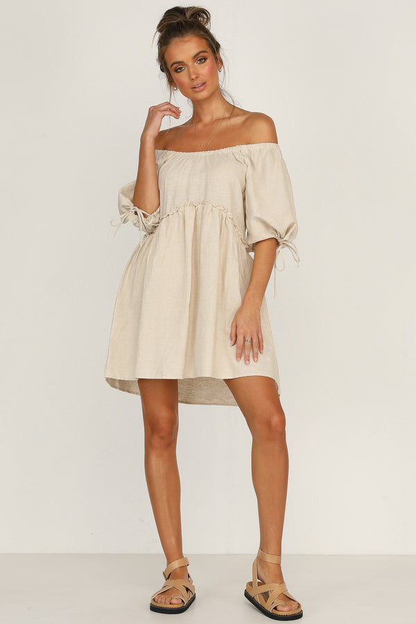 Khloe Dress (Beige)