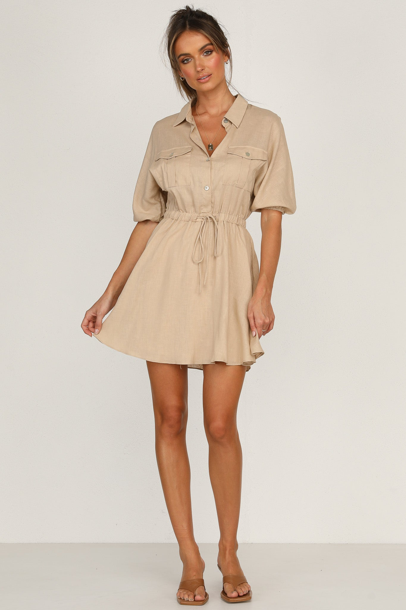 Louella Dress (Beige)