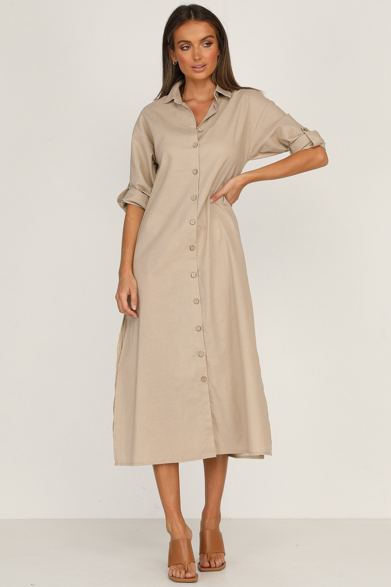 Mykonos Dress (Beige)