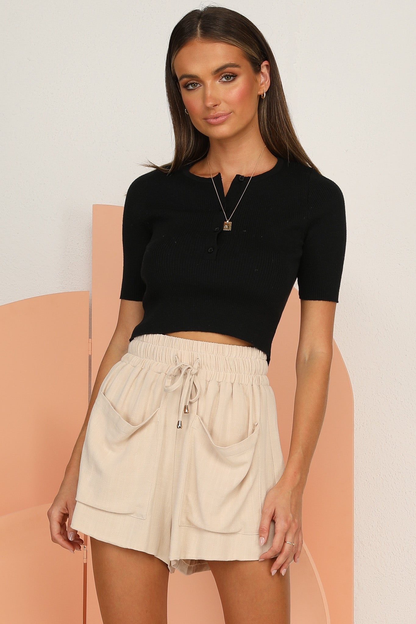 Olivia Knit Top (Black)