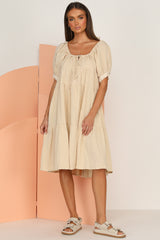 Reagan Dress (Beige)