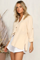 Round Again Shirt (Beige)