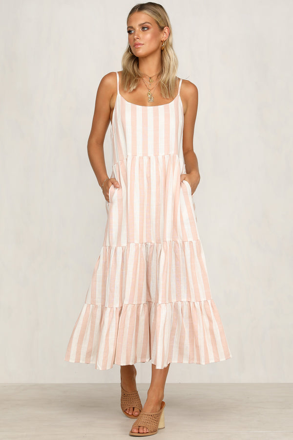 Lay Your Cards Dress (Blush)