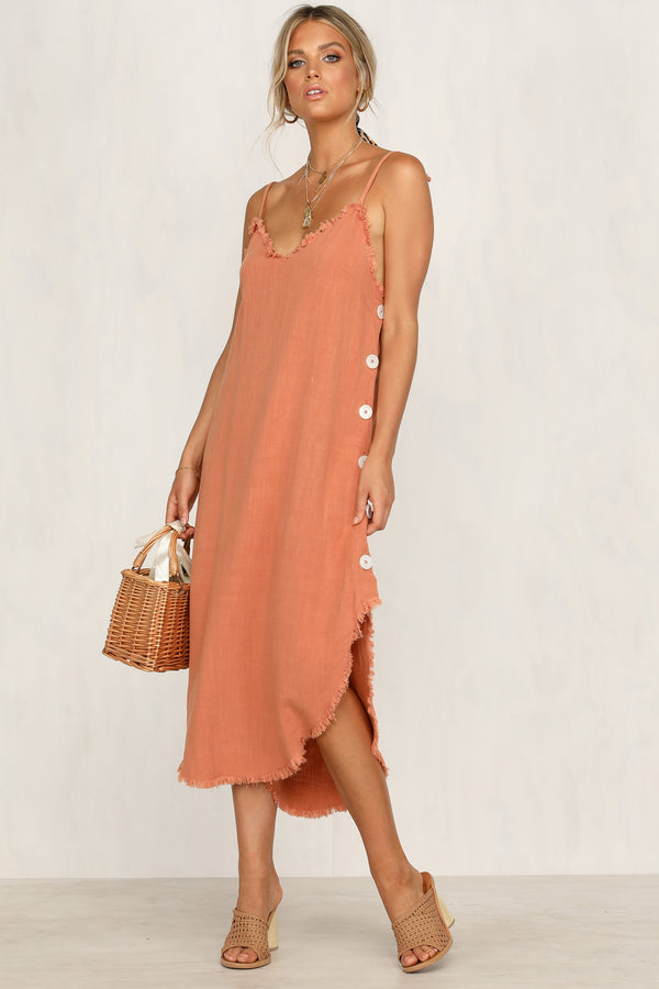 Somebody To Love Dress (Rust)