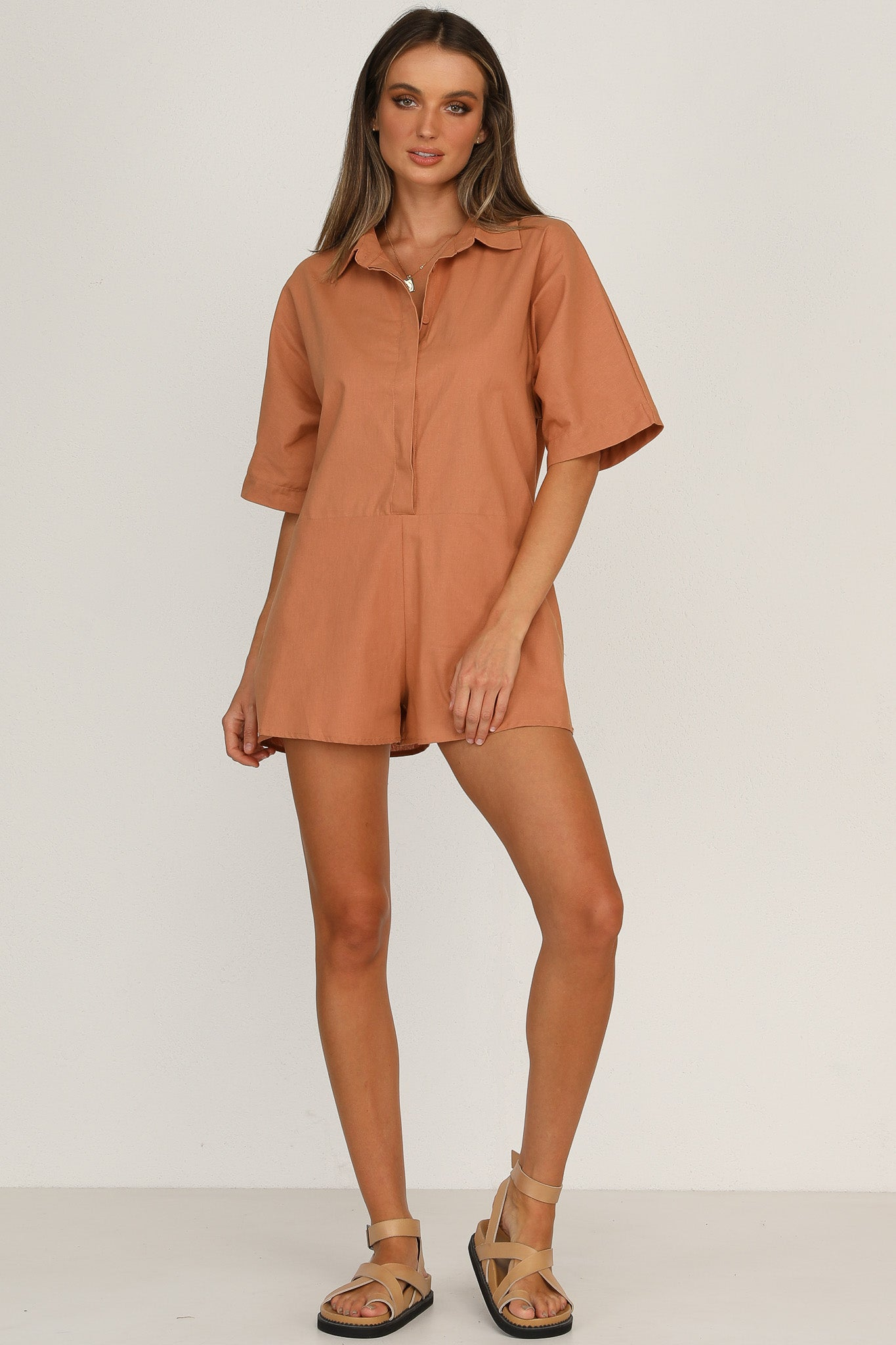 Wesley Playsuit (Rust)