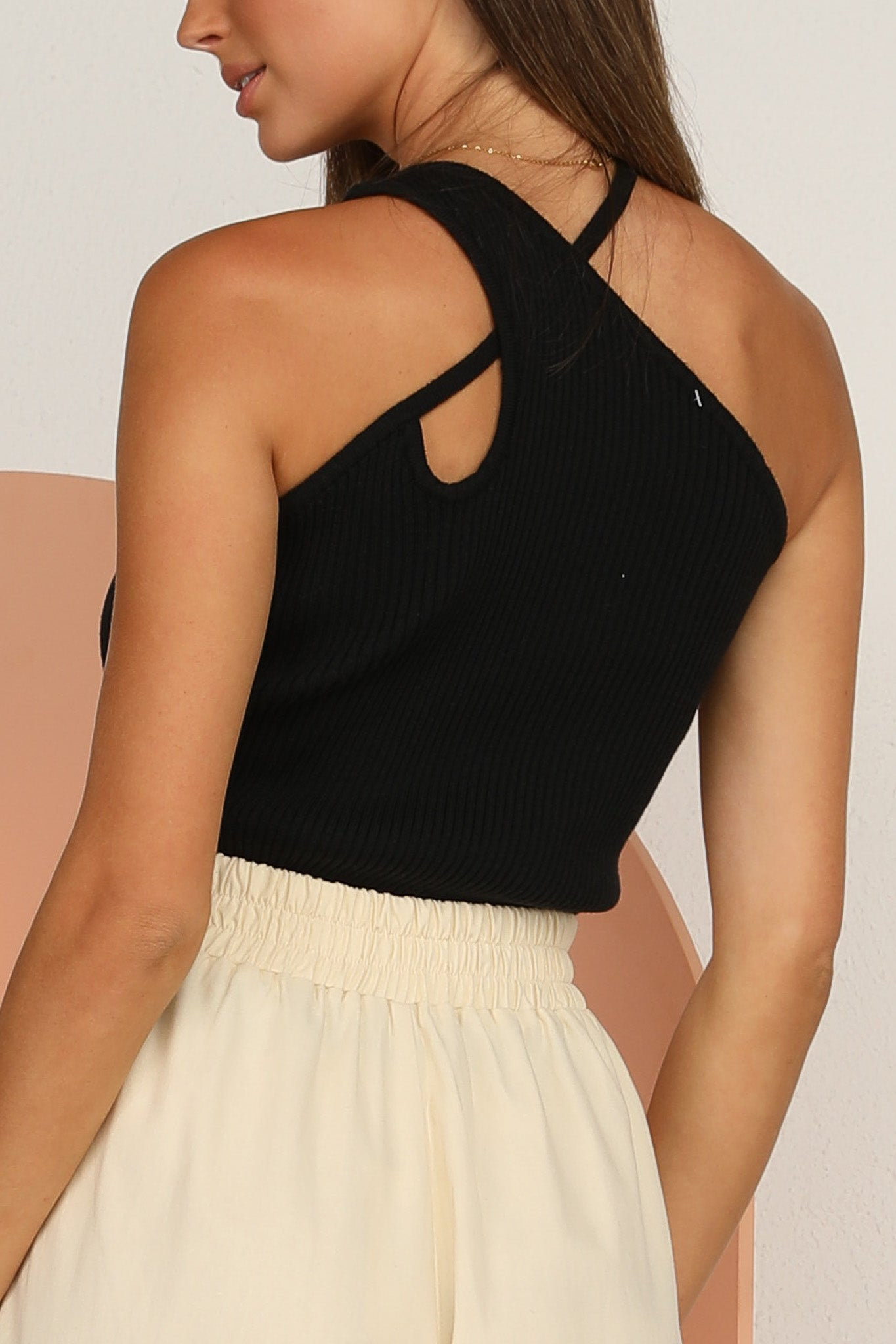 Lourdes Knit Top (Black)