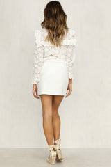 Future Fire Skirt (White)