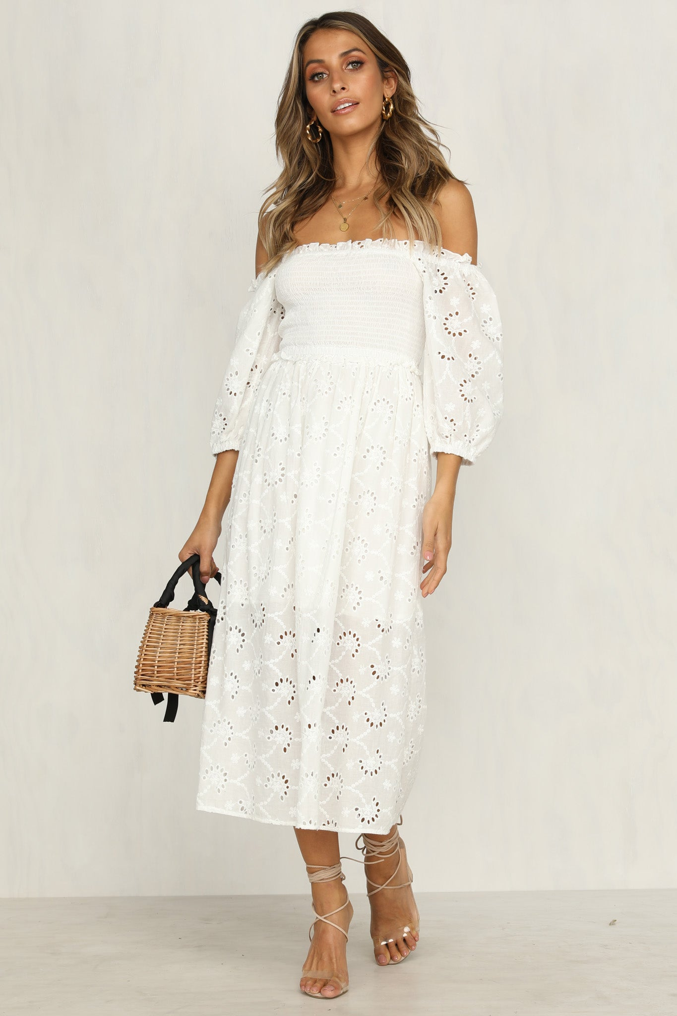 Daisy Girl Dress (White)