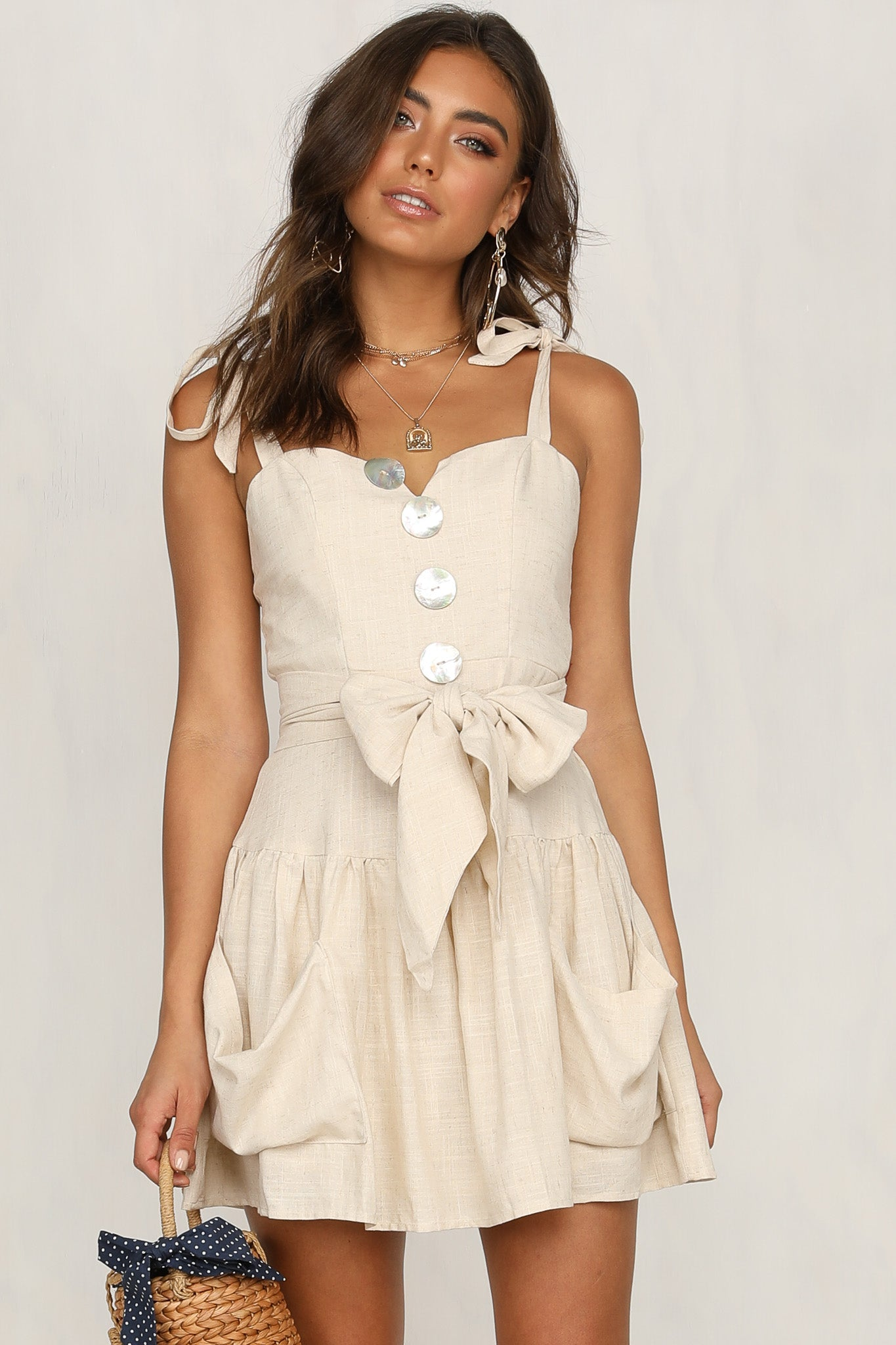 Silver Skies Dress (Beige)