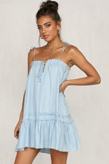 Sienna Dress (Light Blue)
